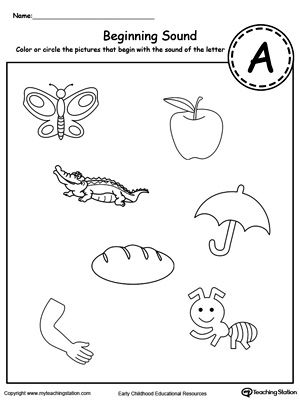 Beginning Sound of the Letter A | Beginning sounds, Phonics ...