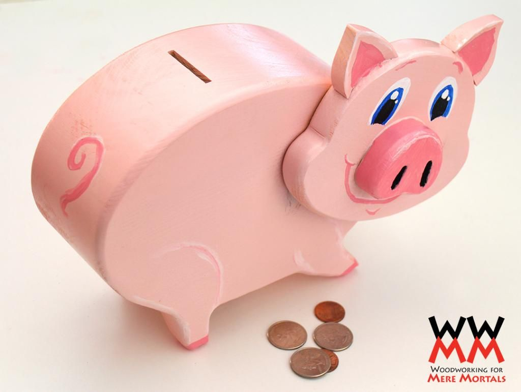 Wooden piggy bank Free video Free plans