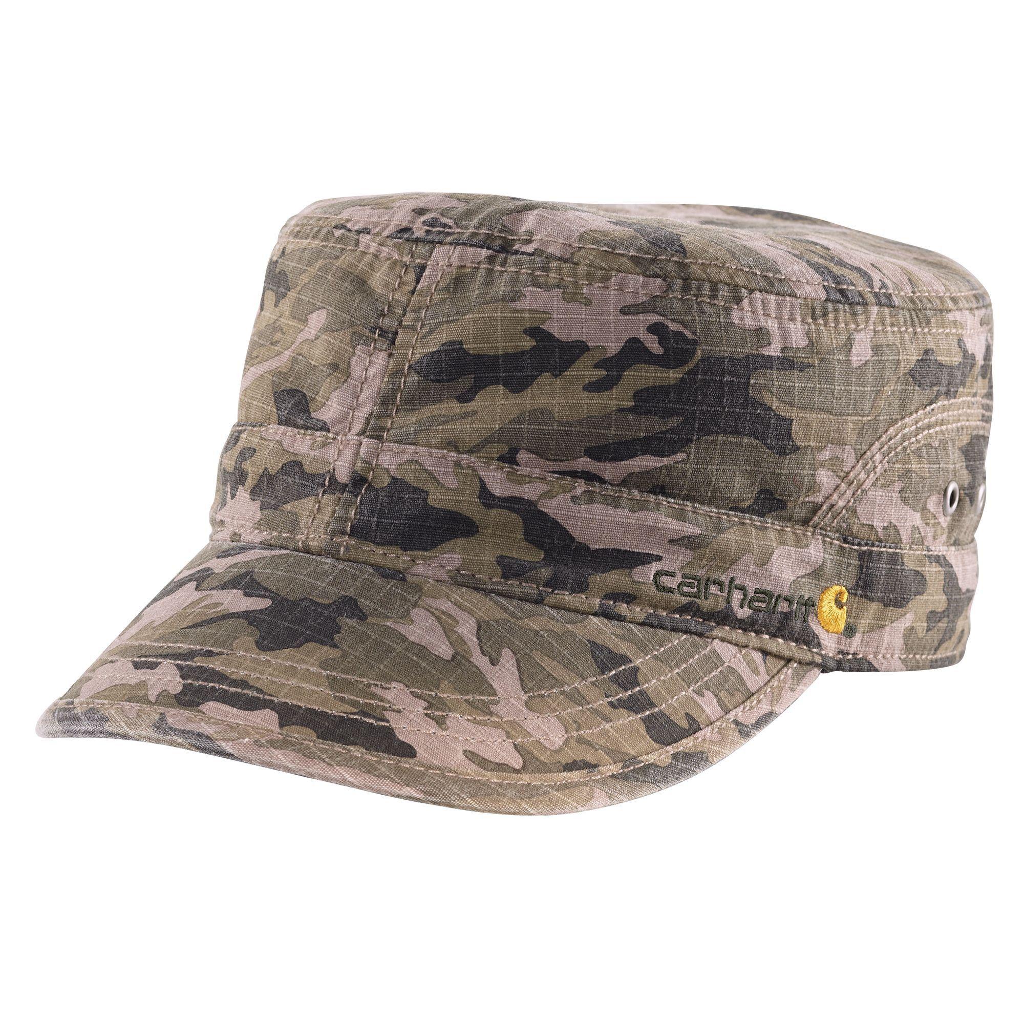 d451090560e Carhartt WomensEl Paso Ripstop Military Cap 101187 Camo Green ...