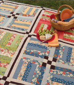 Rail Fence Picnic Quilt | Rail fence, Picnic quilt and Fences : zig zag rail fence quilt pattern - Adamdwight.com