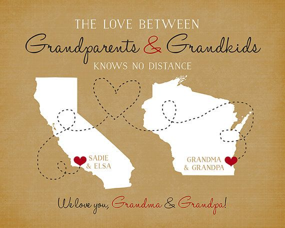 Gift For Grandparents Long Distance Family Personalized Gift Maps