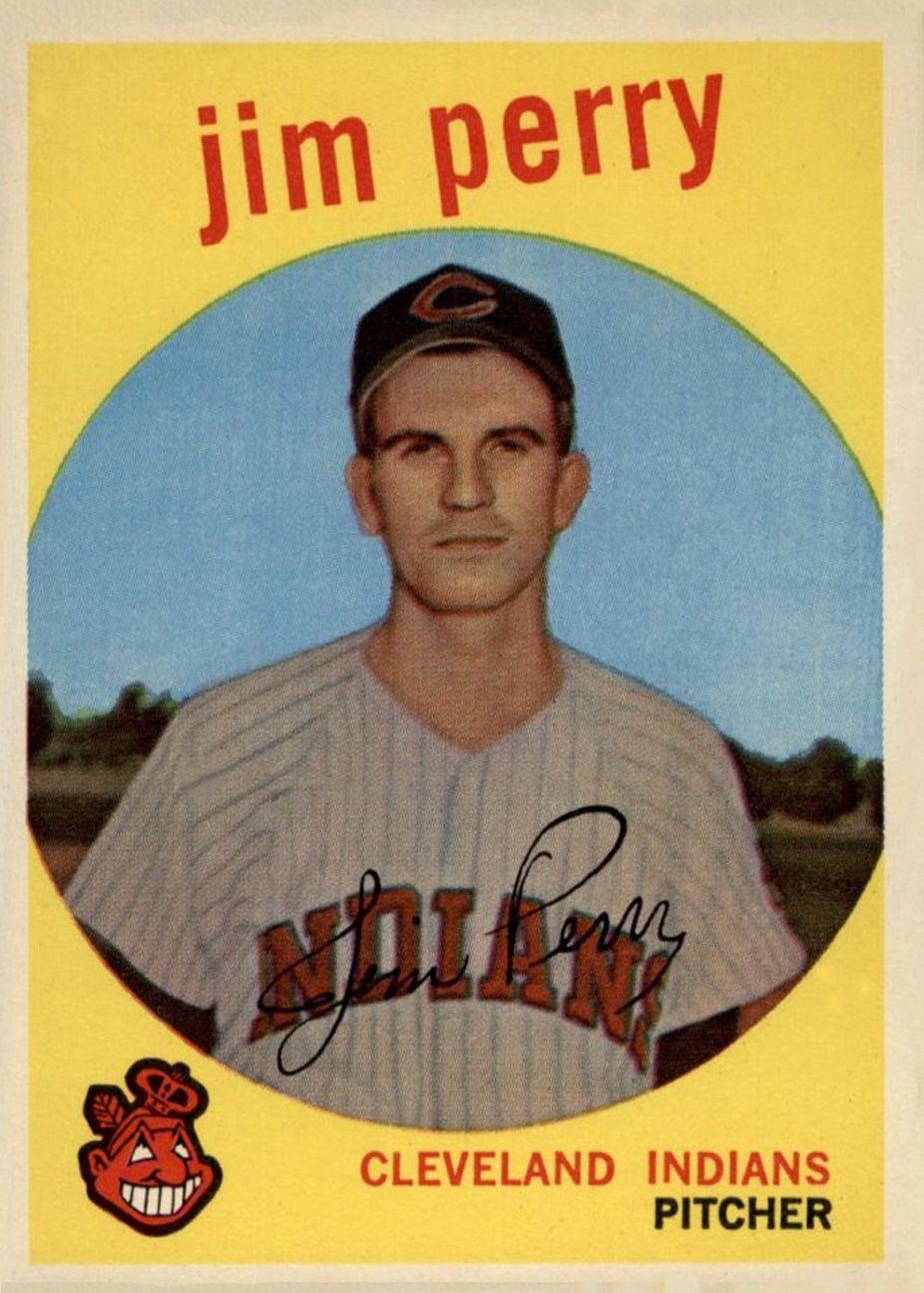 1959 topps jim perry baseball card values baseball