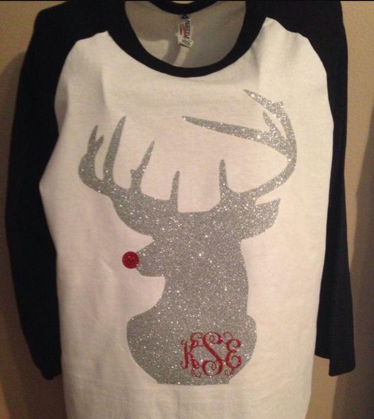 Deer head and initials monogrammed shirt