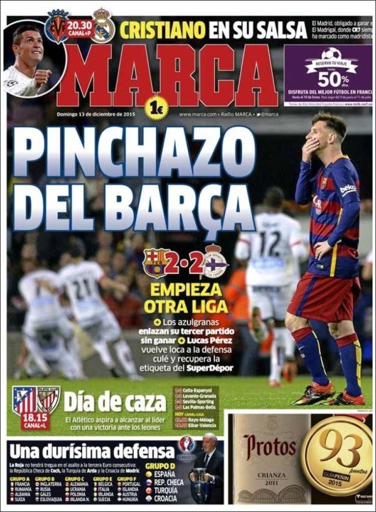 Portada Marca 13/12/2015 Portadas, Liga española de