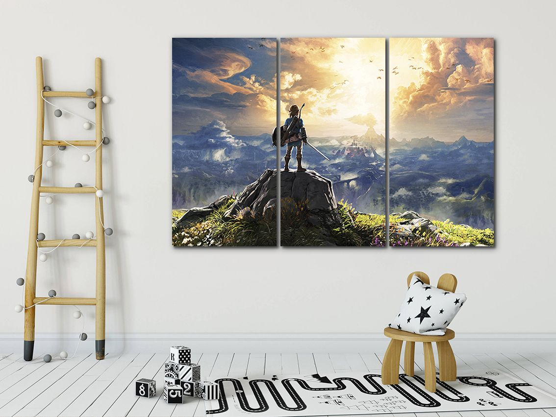 The Legend Of Zelda Canvas Zelda Decor Game Wall Art Video Etsy Gaming Wall Art Game Canvas Art Kids Canvas Art