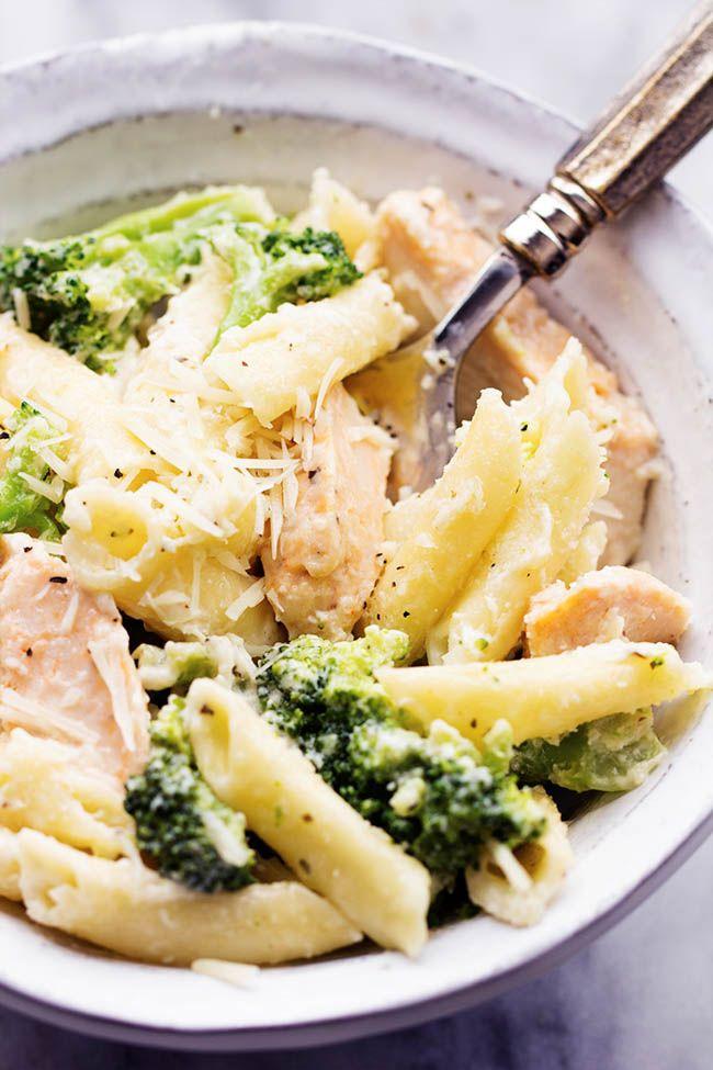Three Cheese Chicken Broccoli Alfredo Recipe Chicken Broccoli