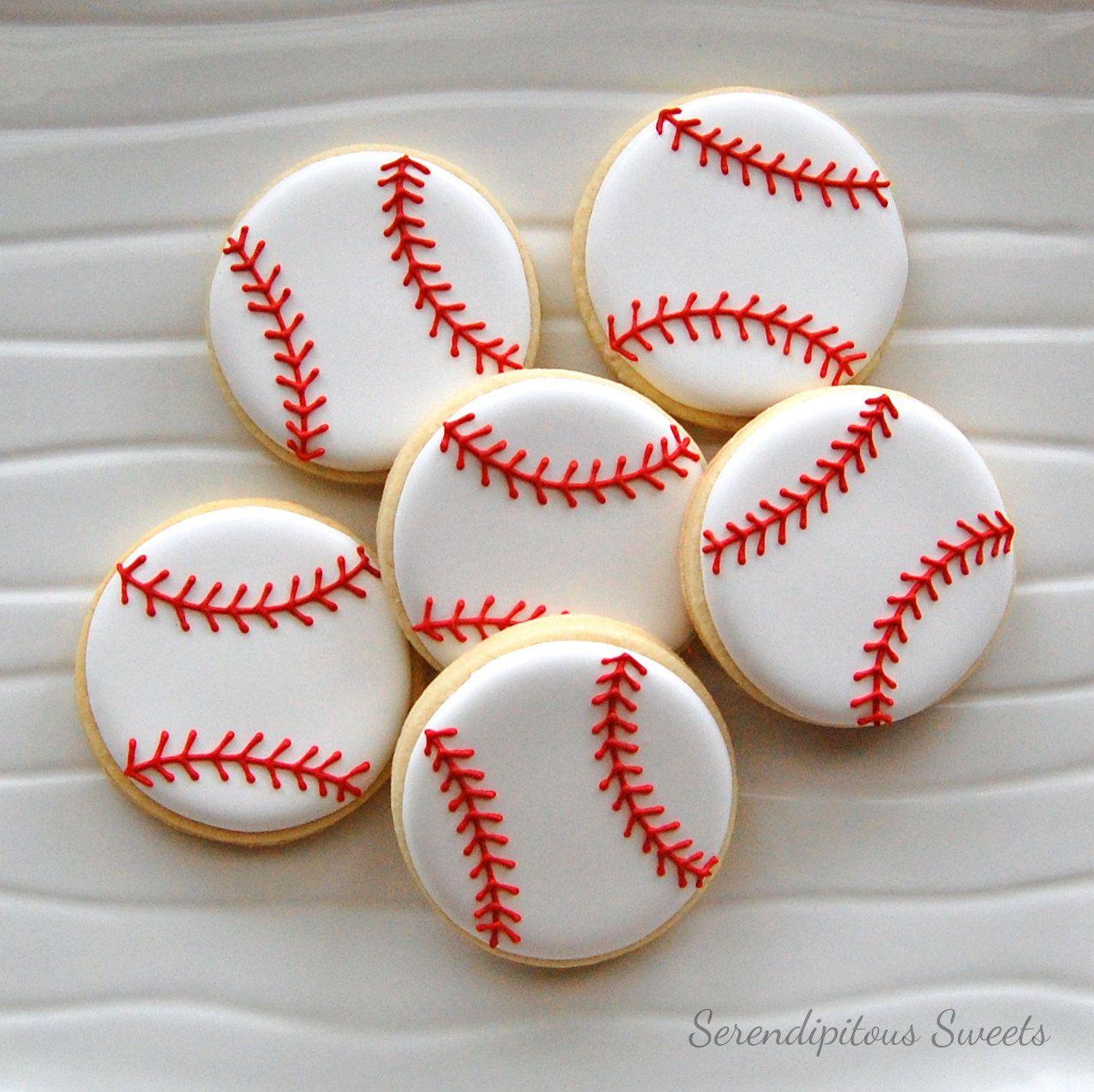 Baseball Cookies Mesas Postres Pastel De Beisbol
