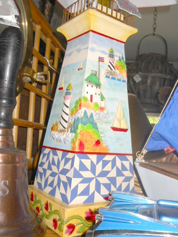 Cottage lighthouse lamp 3 colors - Jim Shore Heartwood Creek Lighthouse Lamp W Shade Ebay