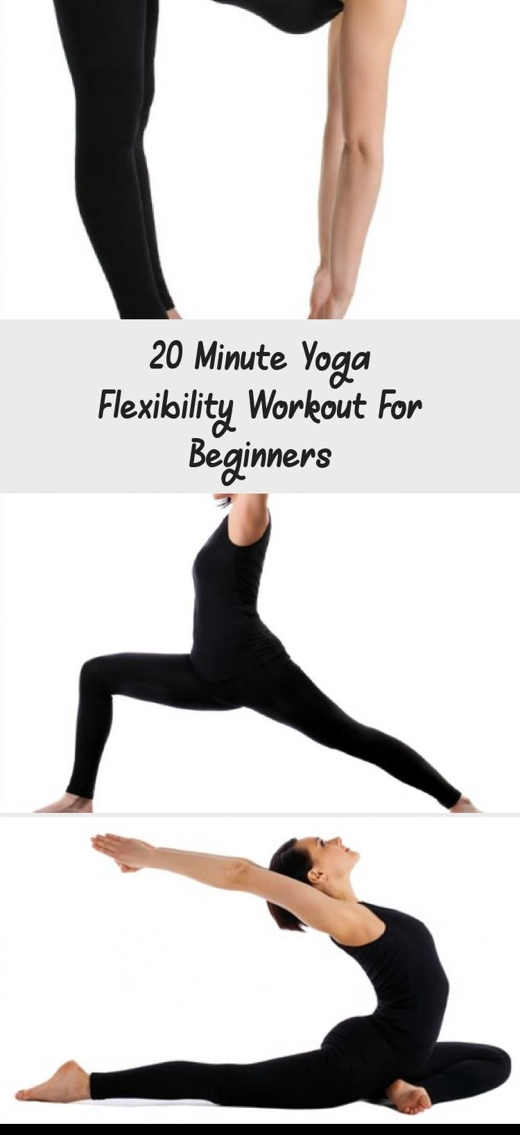20 minute flexibility yoga workout for beginners!  This is a great way to burn f…