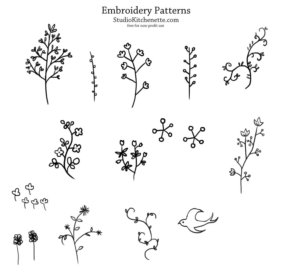 Images For Easy Floral Embroidery Designs Line Drawings For
