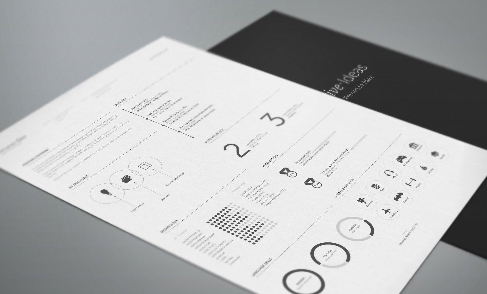 Resume Design  Fernando Baez  Design  BrandingCv