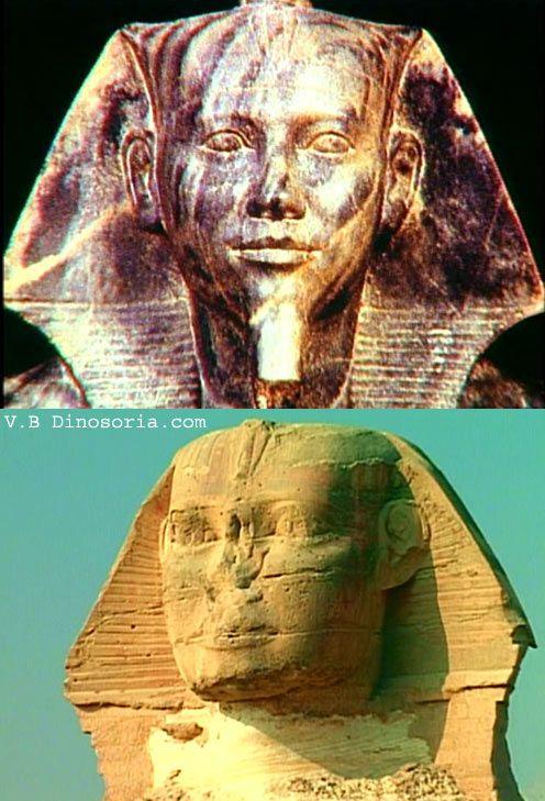 Comparatif Kephren et sphinx de Gizeh