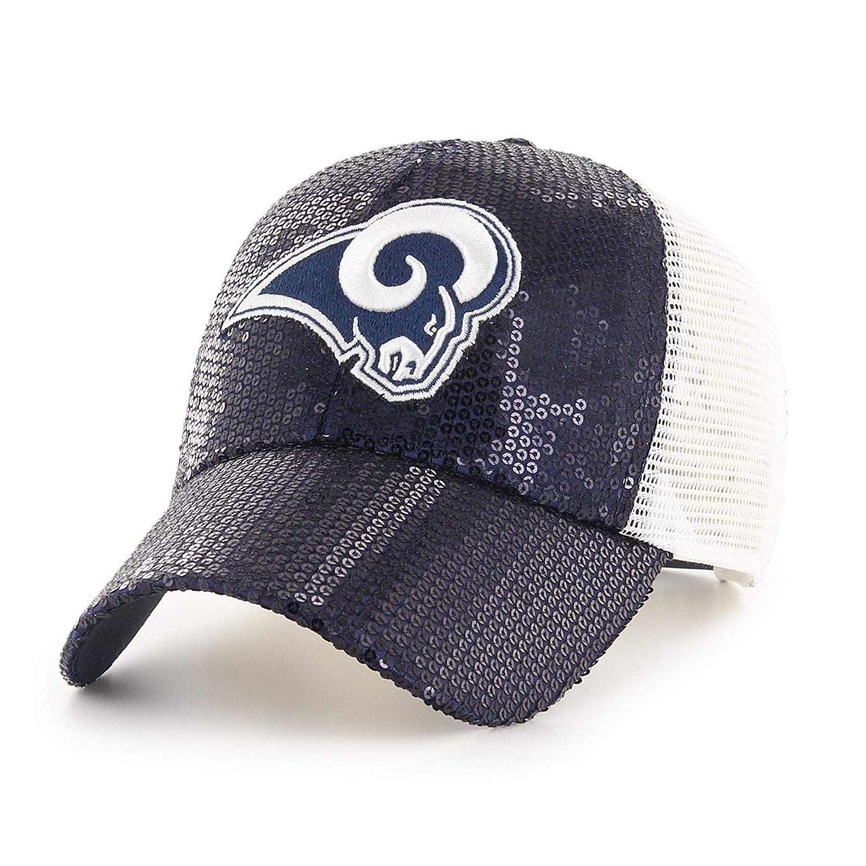 release date: d498a 8d526  24.00 NFL Los Angeles Rams Women s Brilliance OTS Challenger Adjustable Hat,  Navy, Women s   Sports   Outdoors