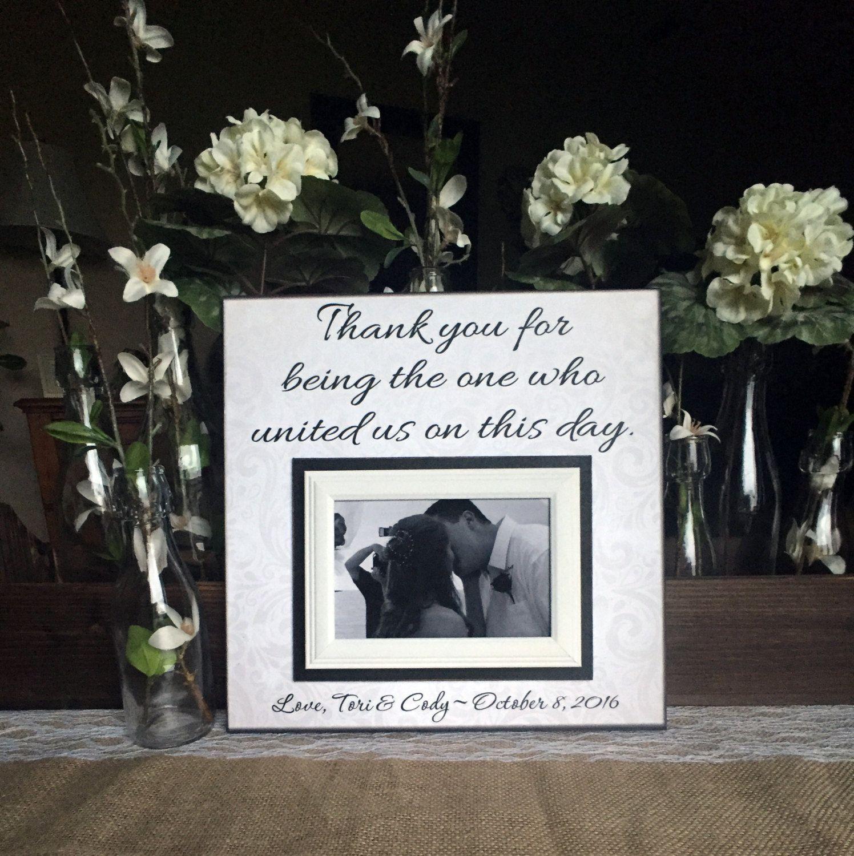 Wedding Officiant Gift Custom Wedding Frame Thank You
