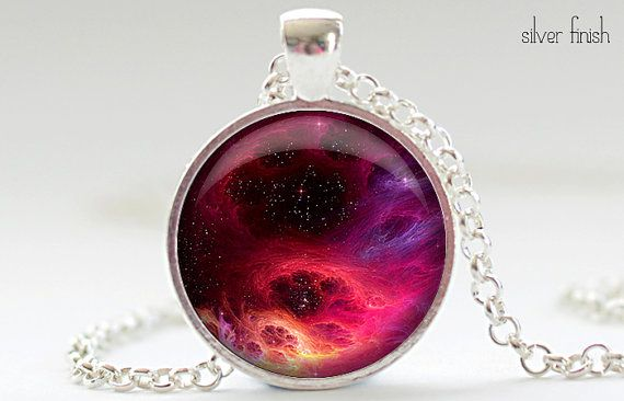Galaxy Necklace Galaxy Art Pendant  Science Jewelry by FrenchHoney, $14.50