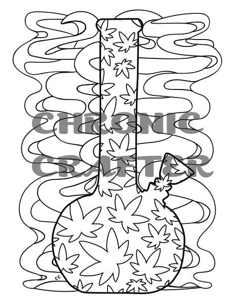 Coloring is the perfect activity when youre high so grab for Bong coloring pages