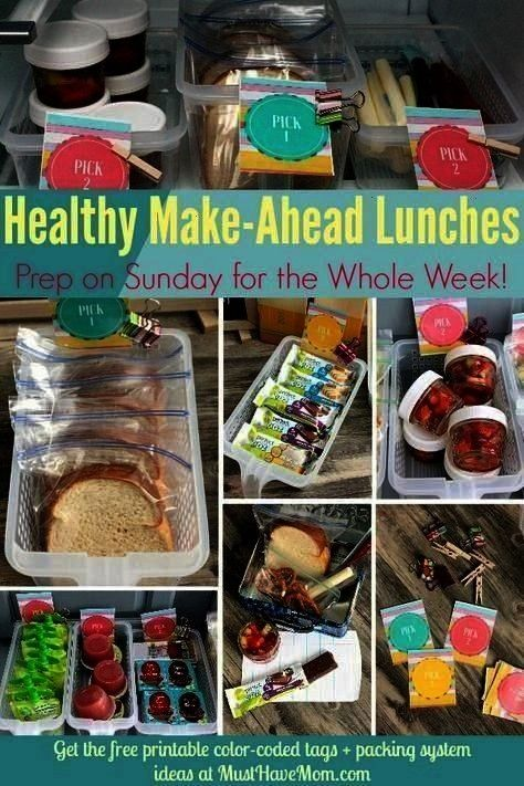 to pack a healthy lunch everyday! Make ahead lunches and label... , Quick amp easy tips to pack a he