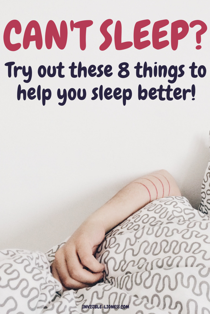 Can't sleep? These 8 things help!