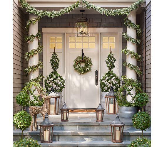 Outdoor Driftwood Deer Front Porch Christmas Decor Christmas Porch Decor Front Porch Decorating