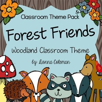 Forest And Woodland Classroom Decor Theme Pack