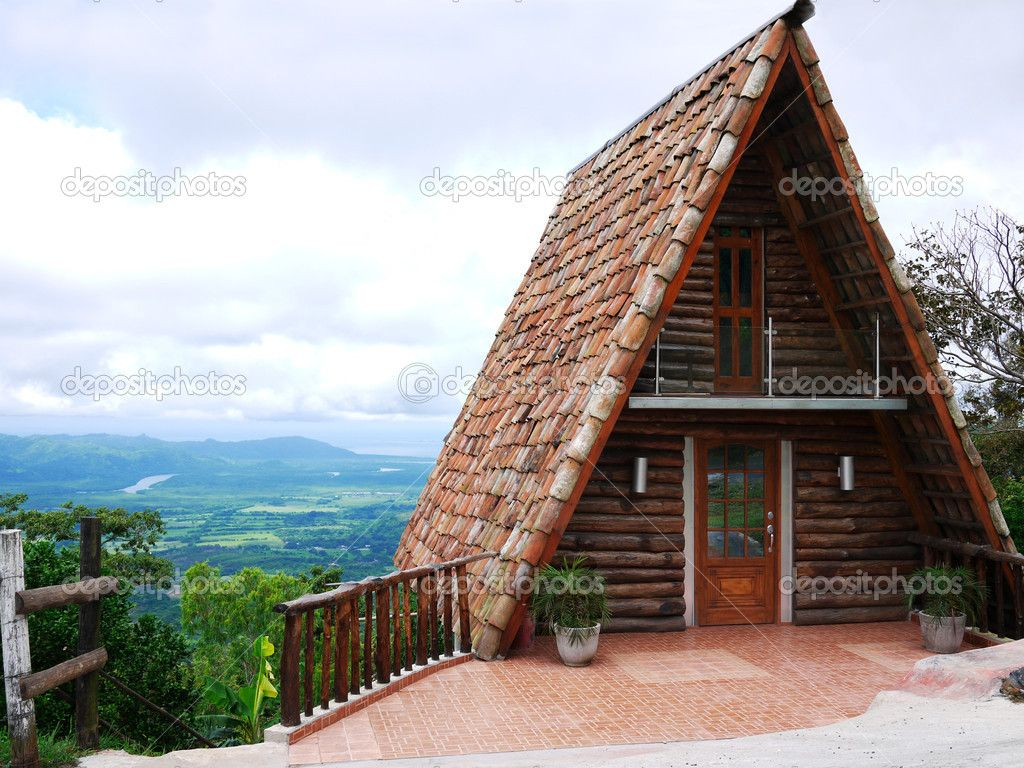 A Frame Cabins | Beautiful Small A Frame Wood Cabin On A Mountain Top