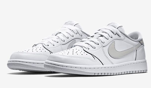 "bffff77ac876e2 Air Jordan 1 Low OG ""Natural Grey"" White Natural Grey 705329-101 March  28th"