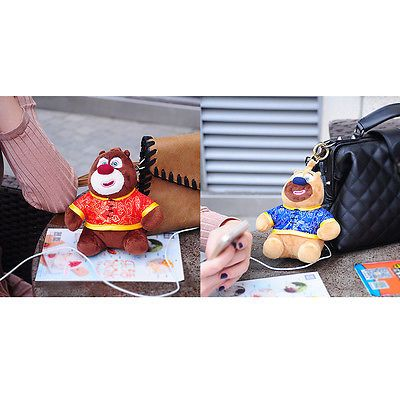 6600mah Bears Plush Dolls Mobile Power Bank Cartoon Cell Phone Battery Charger