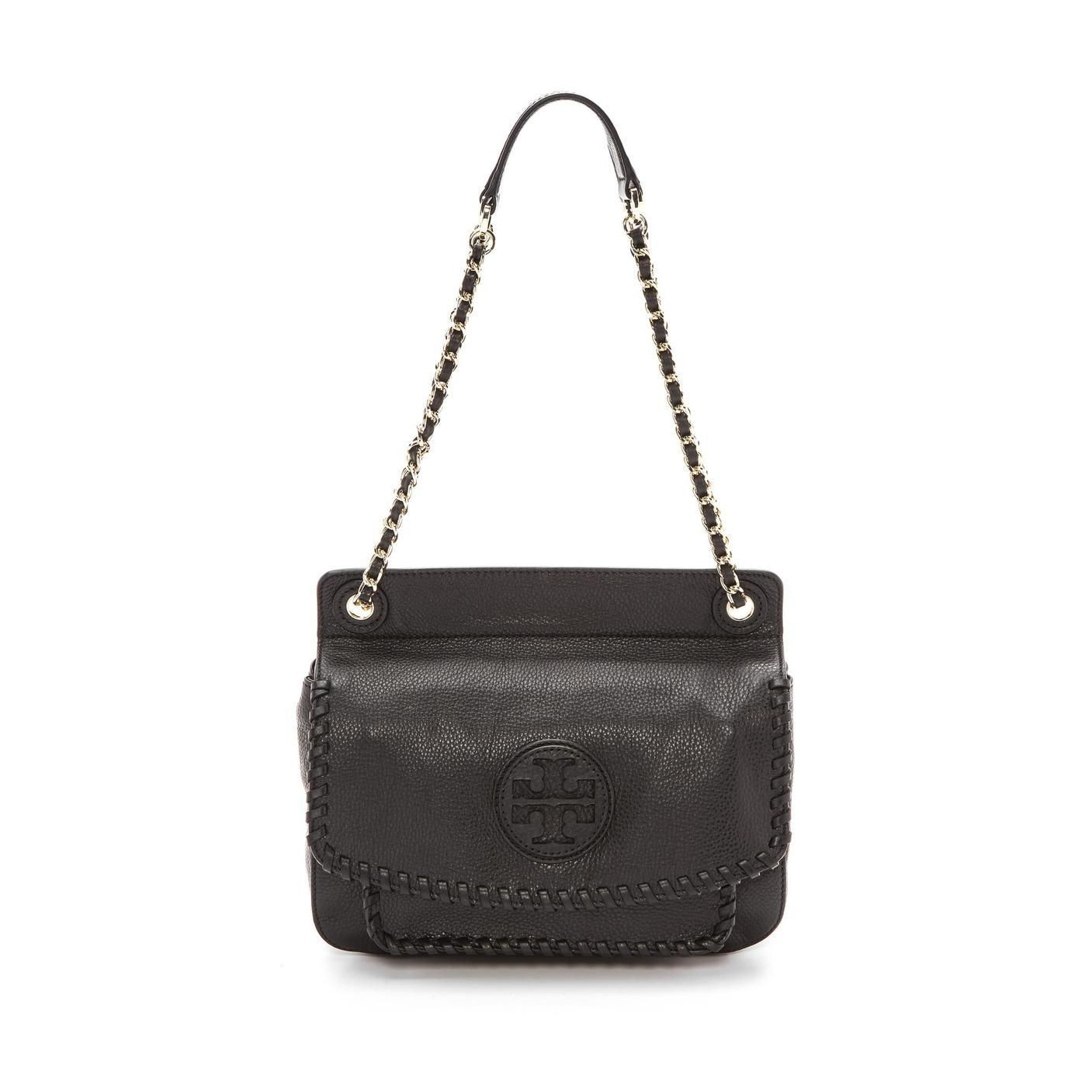 Tory Burch Leather Small Marion Saddle Shoulder Bag. Get one of the hottest  styles of the season! The Tory Burch Leather Small Marion Saddle Shoulder  Bag is ... 14d933a83200c