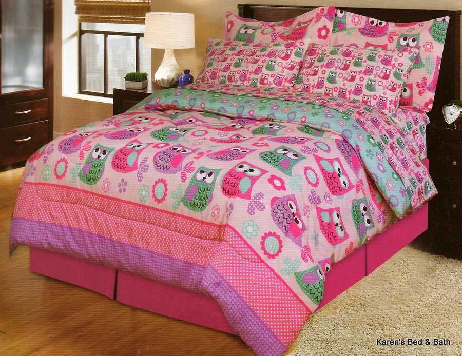Best Little Girls Bedding Sets For Queen Bed With Owls Owls 640 x 480