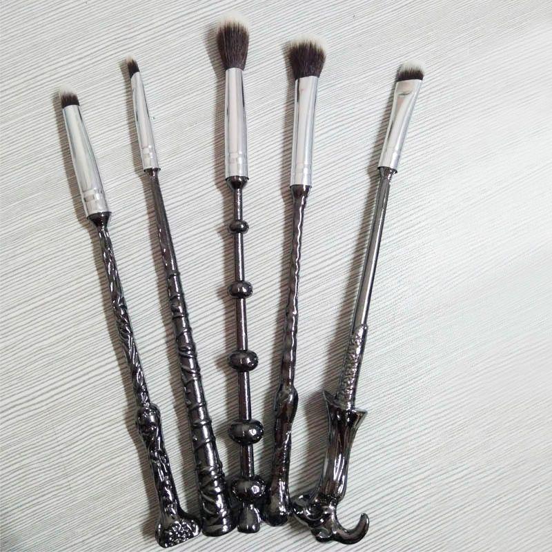 New Harry Potter Professional Metal Handle Nylon Hair Wand Wizard Women Portable Makeup Brush Set