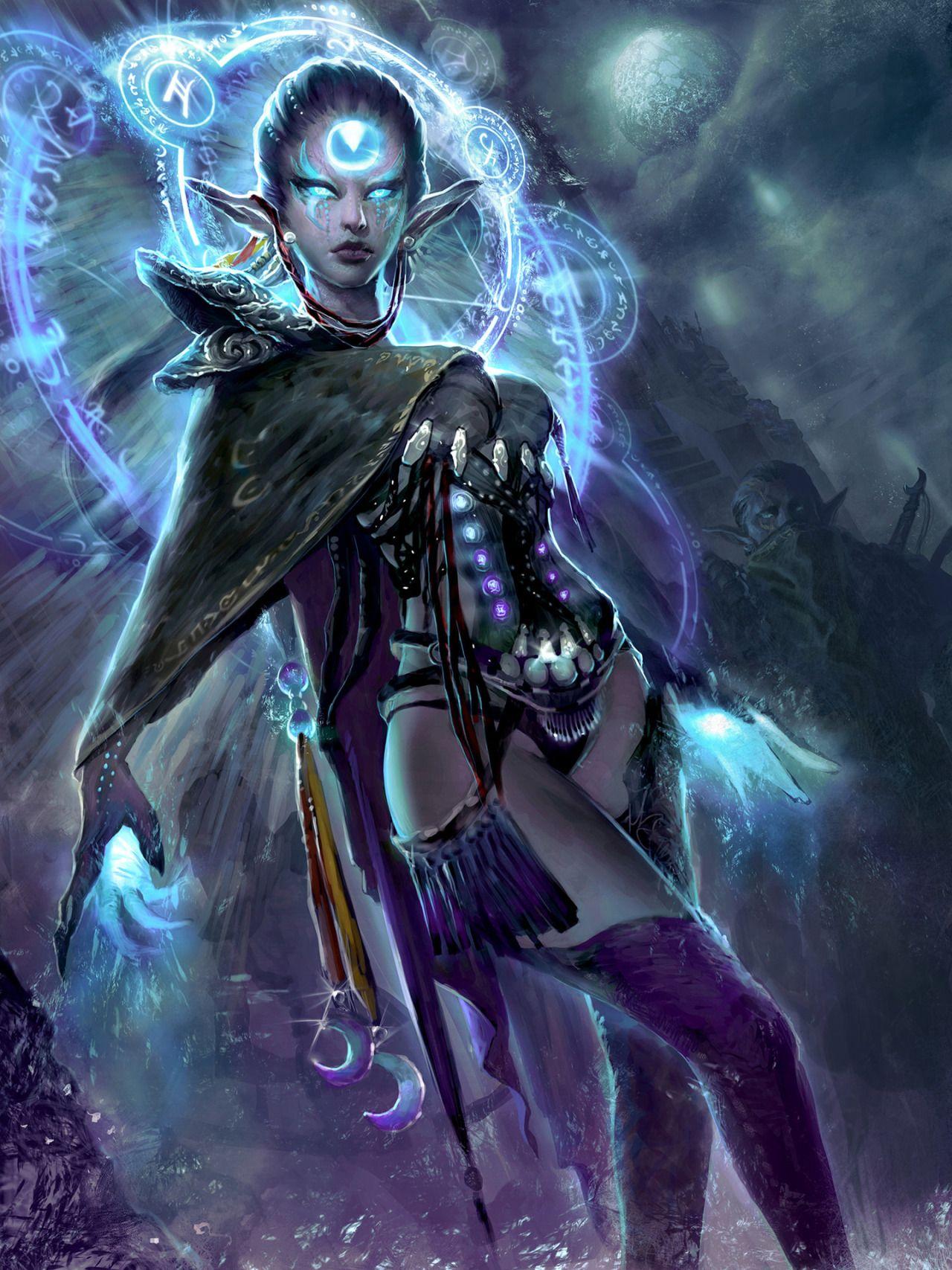 Dark Elf Mo Li Dark Elf Dark Fantasy Art Art
