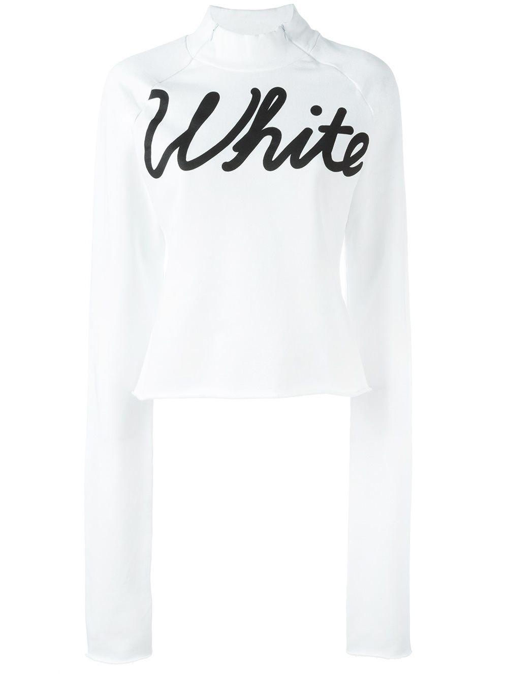 Off-White 로고 프린트 스웨트셔츠