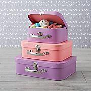 Bon Voyage Pink and Purple Suitcase Set