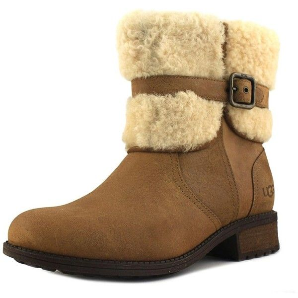 90947225dec Ugg Australia Blayre Ii Women Round Toe Leather Tan Winter Boot ...