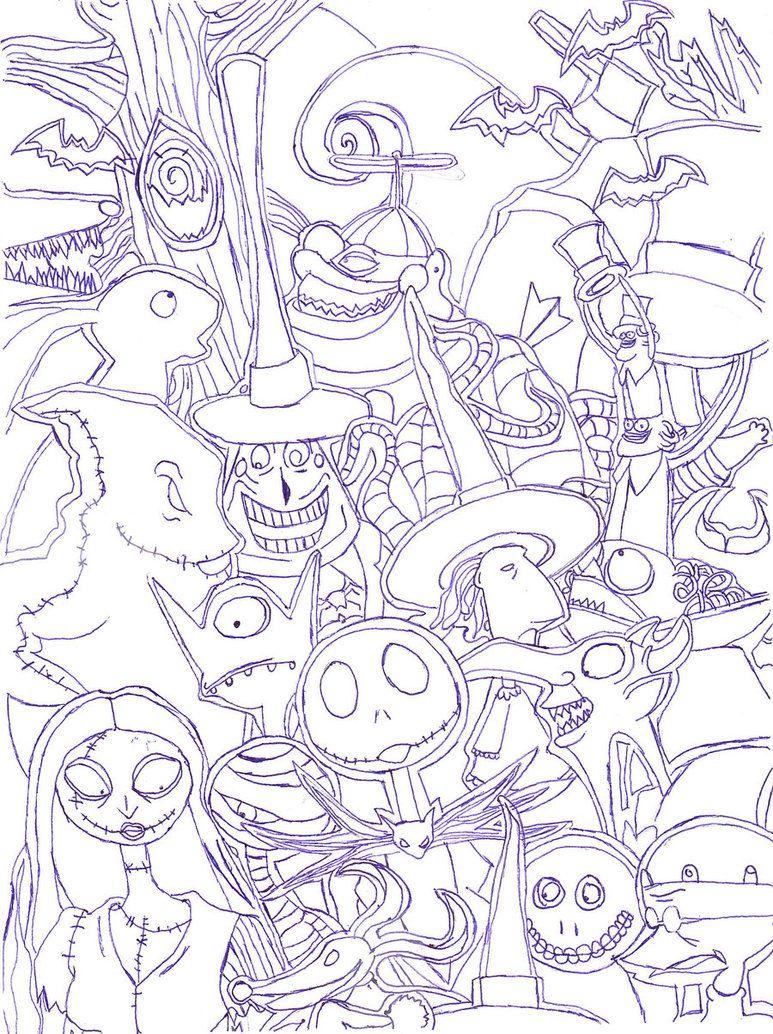 The Nightmare Before Christmas Nightmare Before Christmas Drawings Christmas Coloring Pages Nightmare Before Christmas Characters