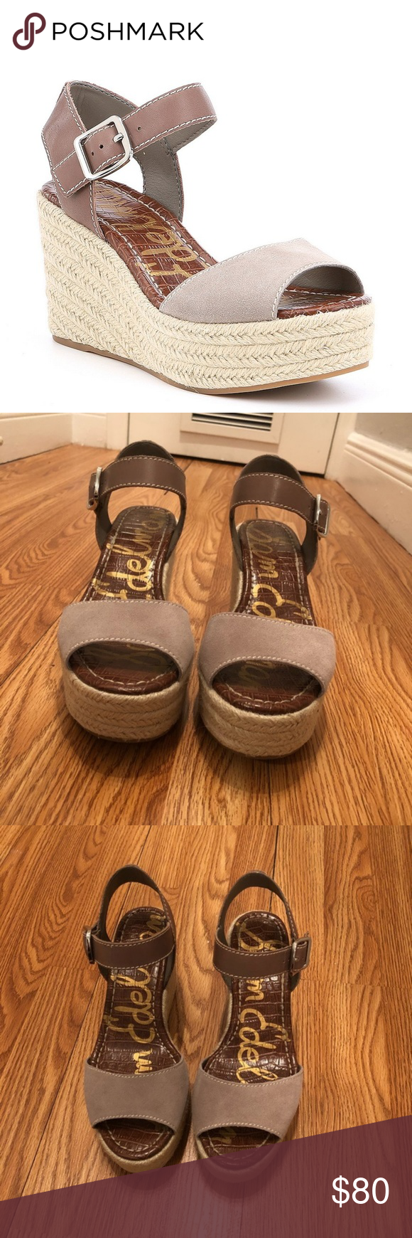 7853904735b1 Sam Edelman Dimitree Wedge Gorgeous taupe espadrille wedge. 3.5 inch heel.  Worn once. Come from non-smoking home. Sam Edelman Shoes Wedges