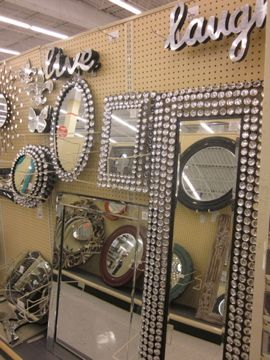 Love This 350 Mirror From Hobby Lobby Need To Think Of A Diy Version For Zoe S Room Dollar Store Diy Decor Rhinestone Mirror
