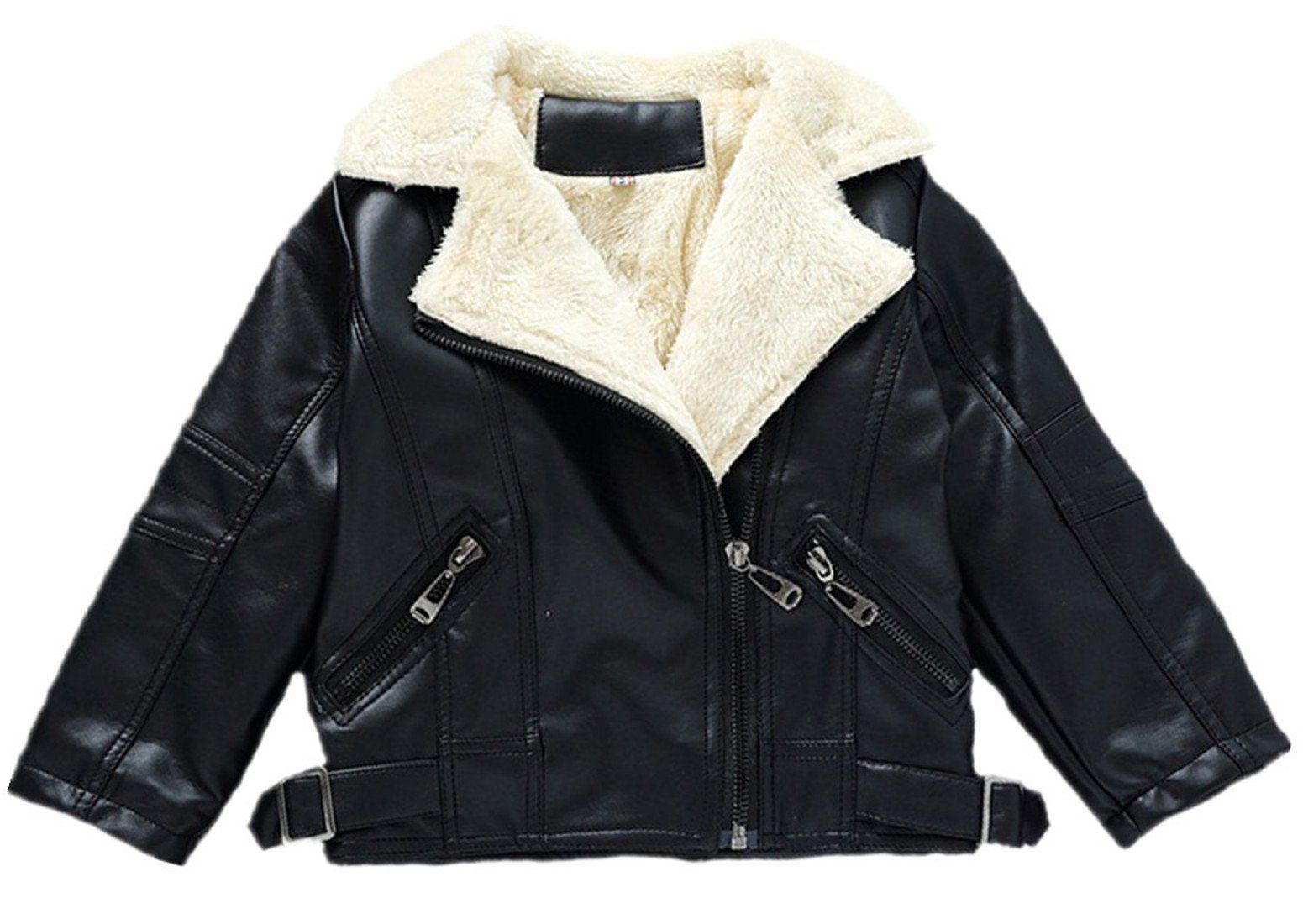 Vska Kids Baby Boy Fashion Children Collar Motorcycle Faux Leather Coats Jacket 3t Black High Quality Materia Leather Coat Jacket Boy Fashion Baby Boy Fashion [ 1100 x 1551 Pixel ]