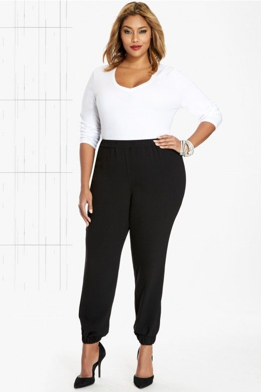 18893e226c Plus Size Laney Jogger Pants | Fashion To Figure | Curvy Girl ...