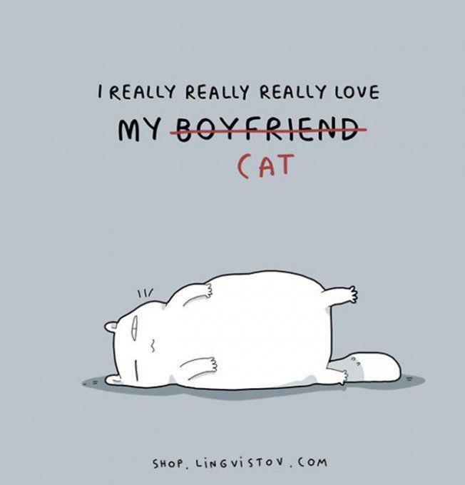 J'aime vraiment vraiment vraiment mon chat
