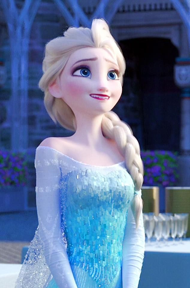 I love this expression on Elsa. Shows she can be shy and