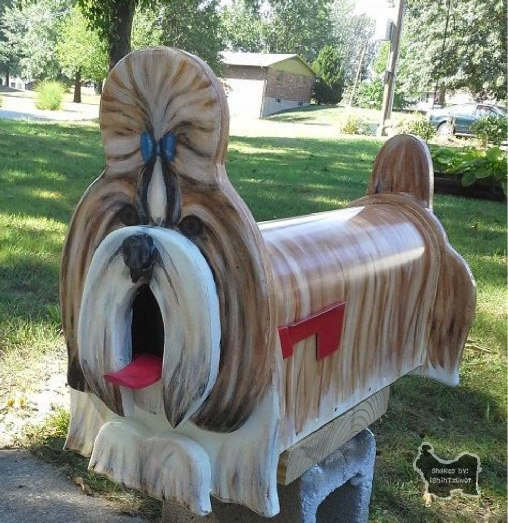 Shih Tzu Mailbox Awesome You Got Mail Flurry Painted Mailboxes Diy Letter Boxes Wooden Mailbox