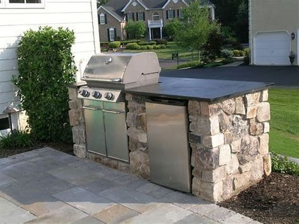 50 comfy backyard kitchen for bbq ideas with images backyard patio patio grill patio on outdoor kitchen easy id=38934