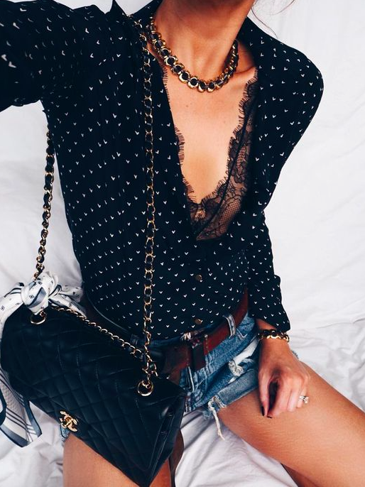 @katepearl omg you I never thought of putting a lace bodysuit under a collared shirt! How cute!