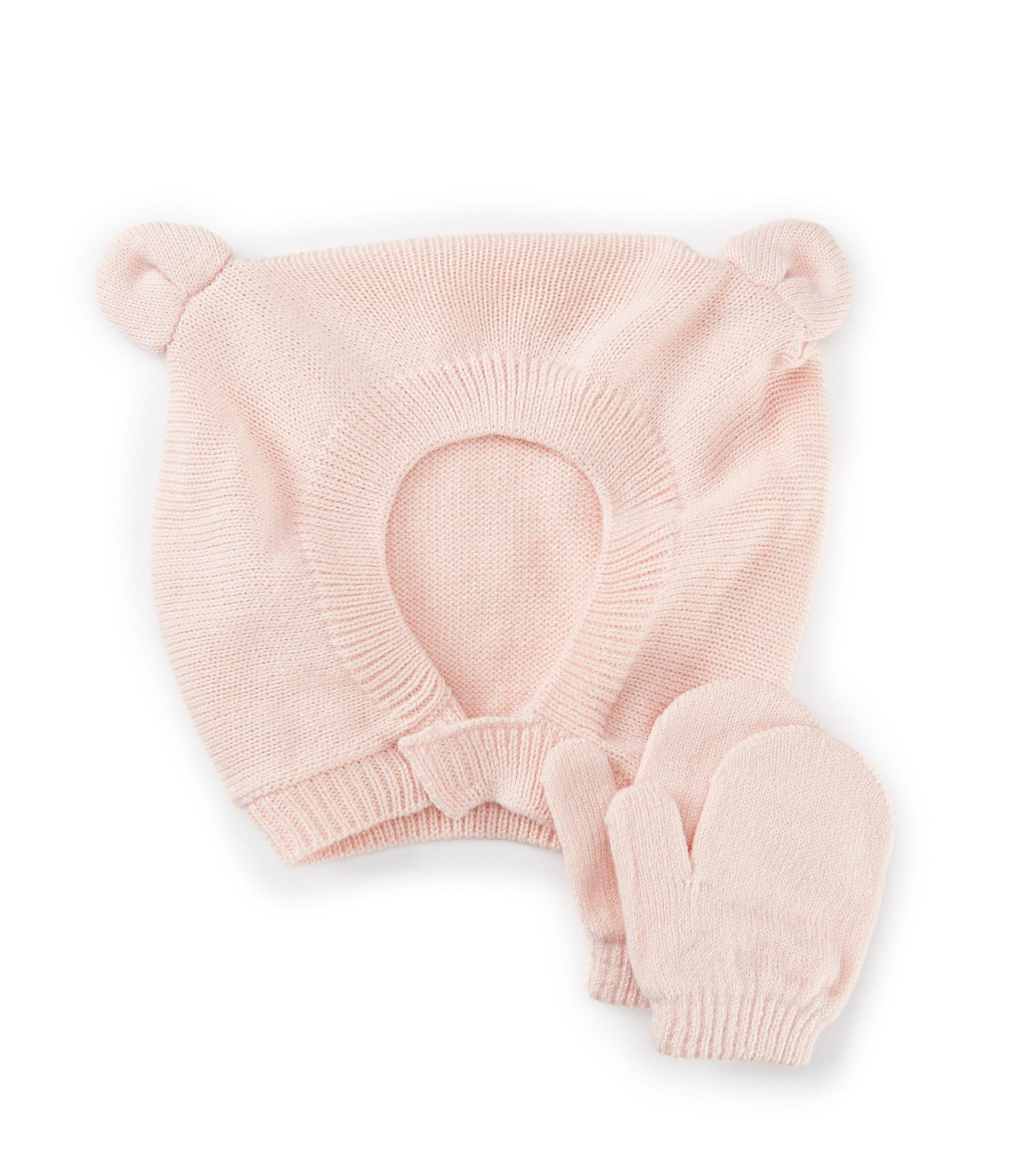 Photo of Starting Out Baby Girls Bear Knit Hat  Mittens Set – Pink Infant