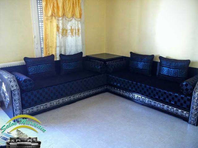 salon marocain traditionnel splendide 2017 banquette salon marocain moderne m lange entre les. Black Bedroom Furniture Sets. Home Design Ideas