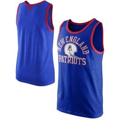 4caaaba1 New England Patriots Nike Rewind Tank Top – Royal Blue   Stuff to ...