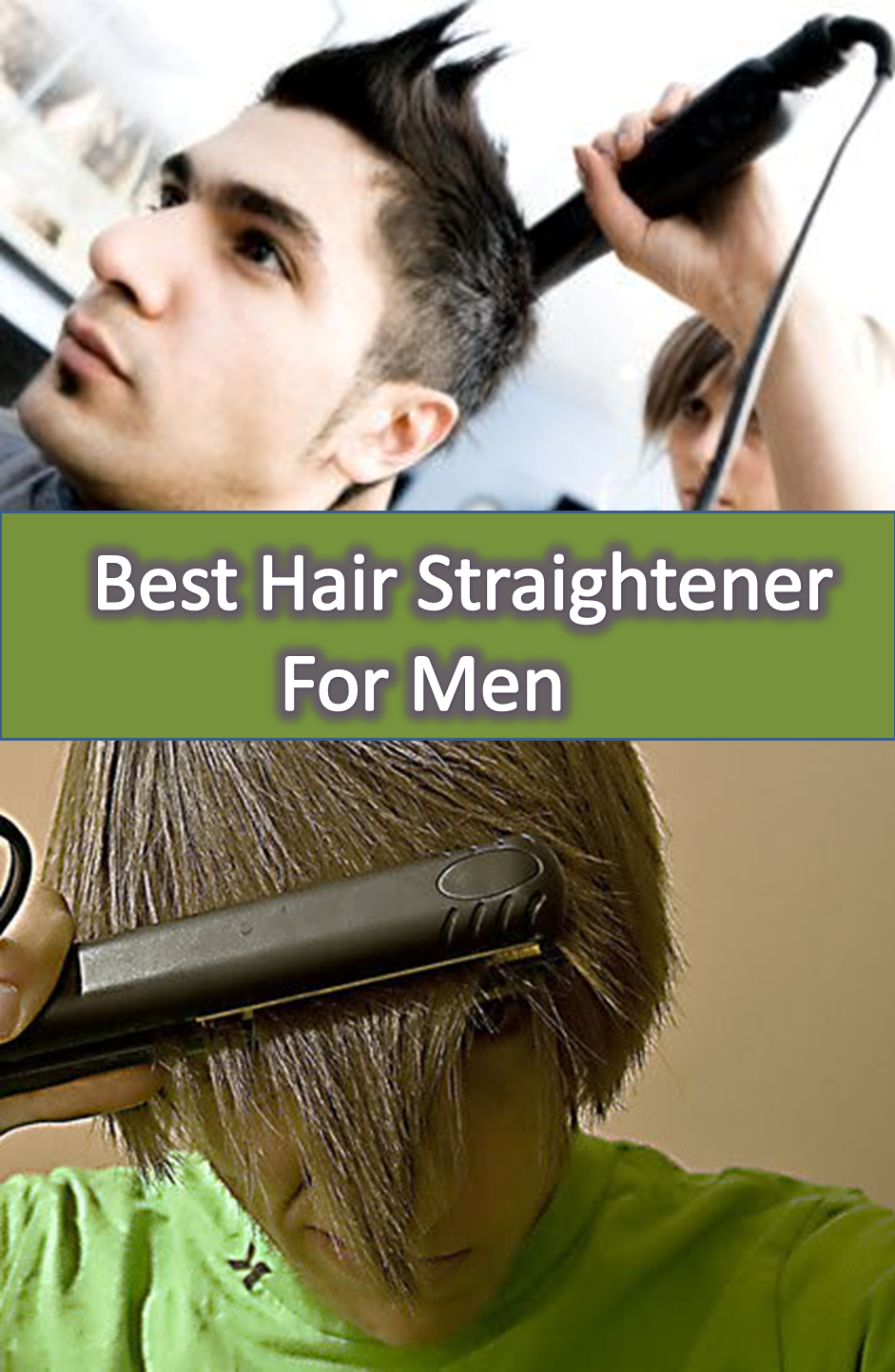 how to use hair straightener for mens