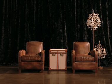 Burlington Chairs U0026 London Trunk In Flour Sack   Kamut