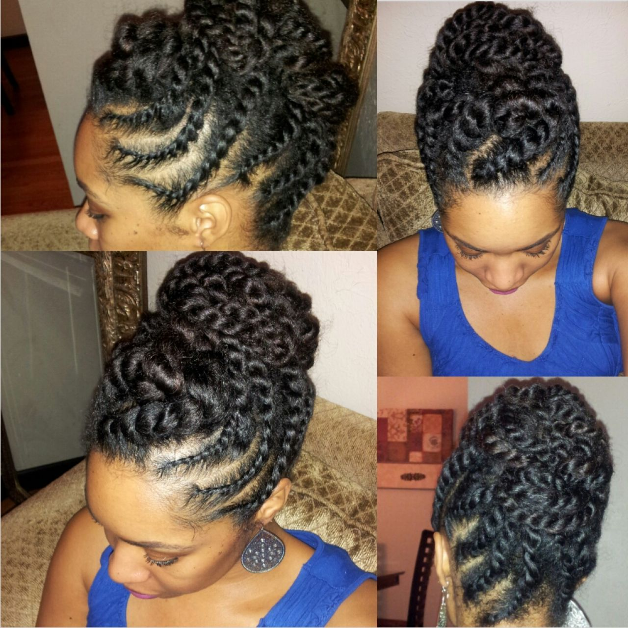 4c Natural Braided Updos Natural Hair Twists Natural Hair Flat Twist Natural Hair Updo